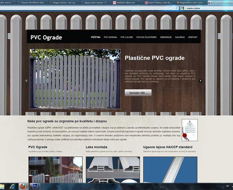 pvc ograda optimizacija sajta